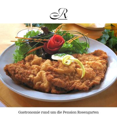 Gastronomie rund um die Pension Rosengarten in Franking am Holzöstersee