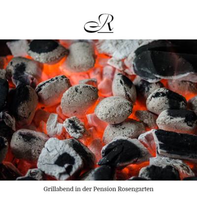 Grillabend in der Pension Rosengarten in Franking am Holzöstersee