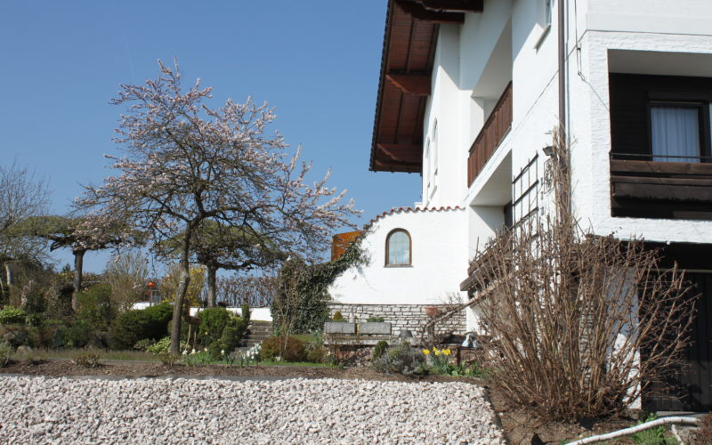 Die Pension Rosengarten von außen...